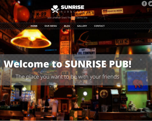 Free WordPress Sunrise Responsive Business Theme Screenshot