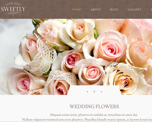 Premium Sweetly WordPress Responsive Business Theme Screenshot