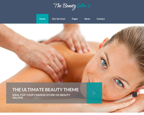 Premium WordPress the Beauty Salon Responsive Business Theme Screenshot