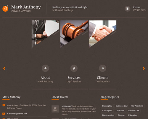 Premium Themis WordPress Responsive Business Theme Screenshot