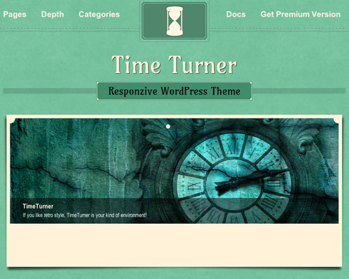 Free WordPress Time Turner Responsive Business Theme Screenshot