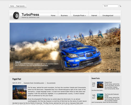 Free WordPress TurboPress Responsive Business Theme Screenshot
