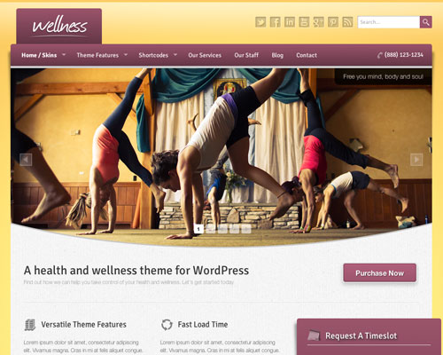 Premium WordPress Wellness Responsive Business Theme Screenshot
